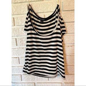 ABOUT A GIRL LOS ANGELES STRIPED CROP TOP